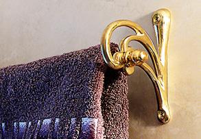 Percheros de bronce accesorios para ba os ideas for Toallero bronce